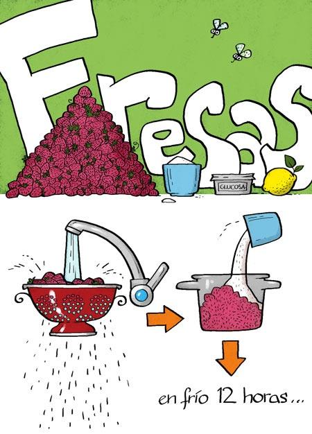 Cartoon Cooking: Fresas.Marmalade.