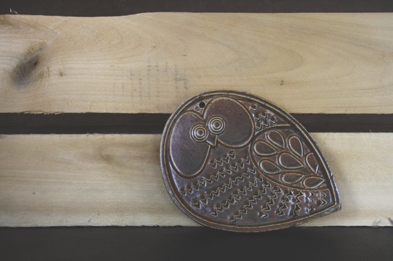Midcentury modern Owl grater wall art by Forgottenworks on Etsy, $30.00