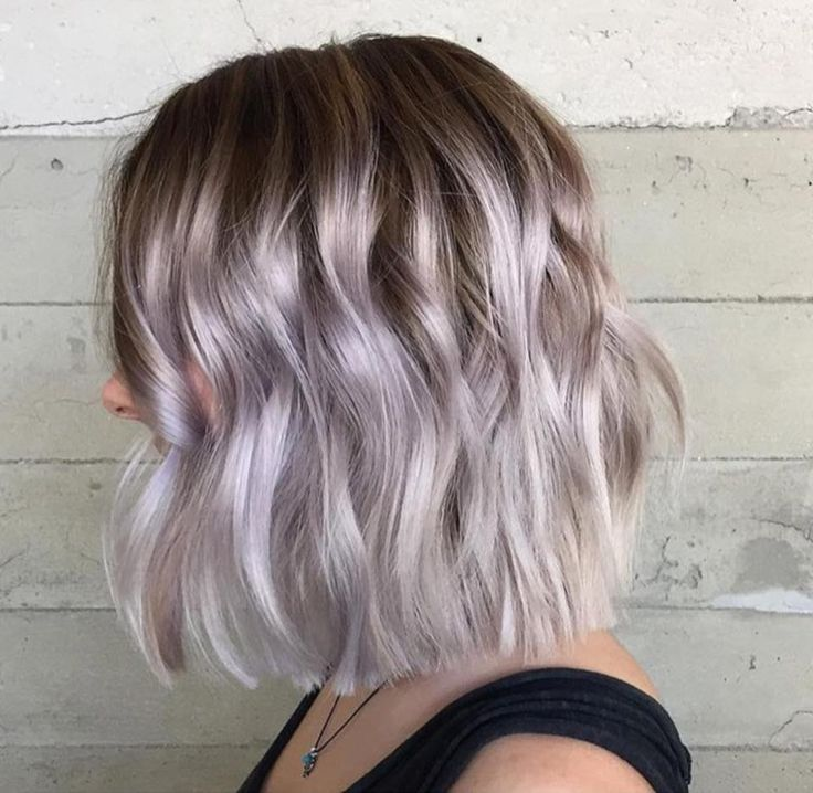 Beautiful Pastel Blonde Lob Style