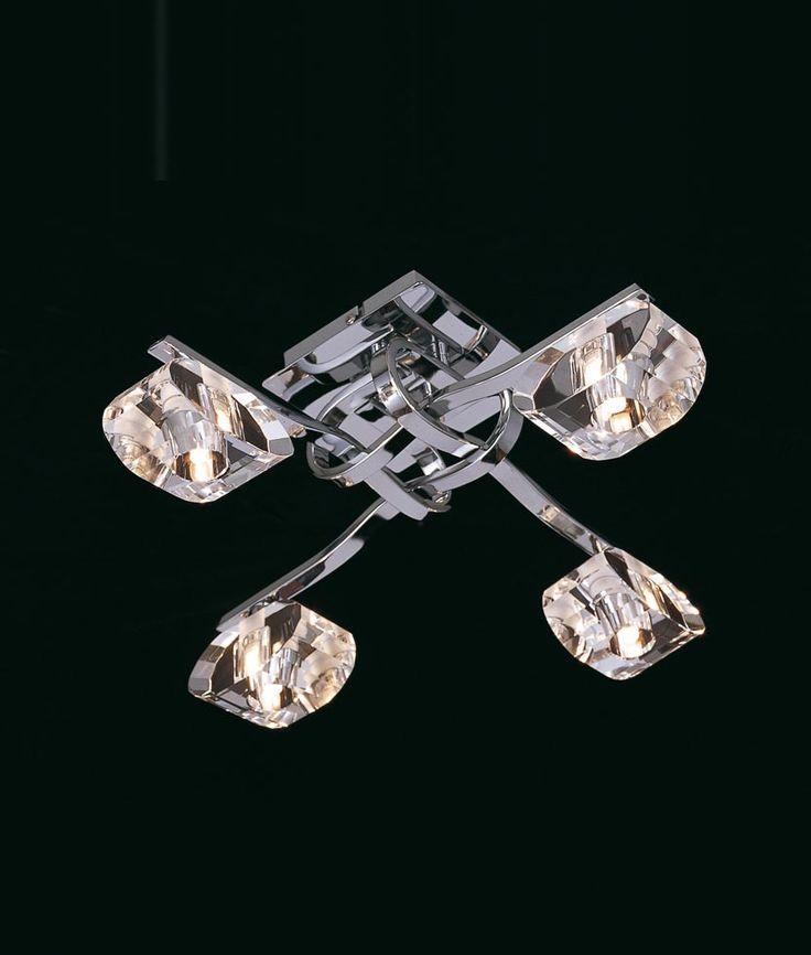 Plafón cromo 4 luces ALFA - La Casa de la Lámpara