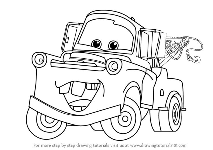 mater tow truck coloring pages - photo#12