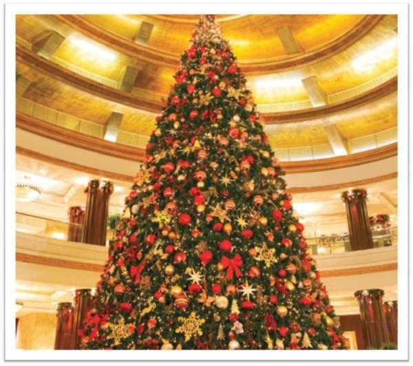 Beach Rotana Hotel Christmas Tree Lighting Pins From