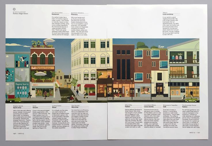 The Perfect High Street illustrated by Gaku Nakagawa www.dutchuncle.co.uk/gaku-nakagawa