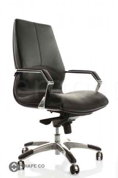 Shape Co - офисное кресло на колесах кожаное или из кожзама. Имеет механизм мультиблок