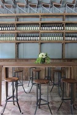 neat wine and cafe layout idea