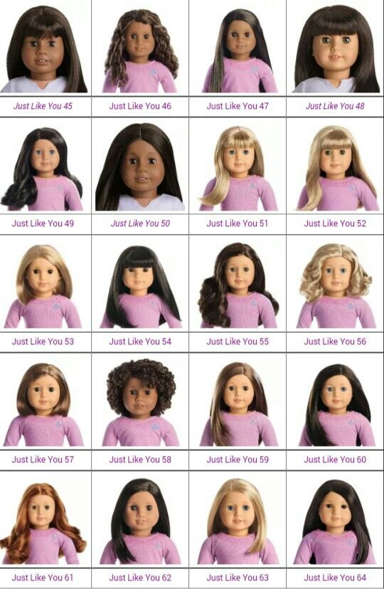All The Girls Standing In The Line For The Bathroom: Visual Chart Of Truly Me Dolls