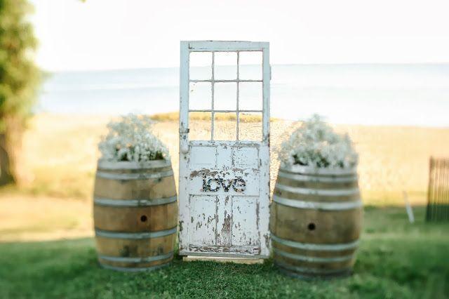 Kristin Partin Photography, Door Altar, Wedding Altar, Barrells, Baby's Breath, James River Country Club,  rustic wedding  befair&bloom blog