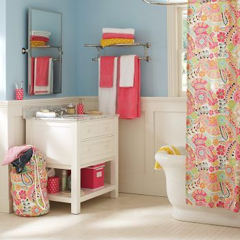 Nice Bathroom Decorating Ideas: Paisley Teen Bathroom