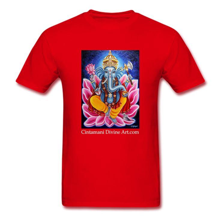 Ganesh T-Shirt - Cintamani Divine Art- https://cintamanidivineart.com/product/ganesh-t-shirt/