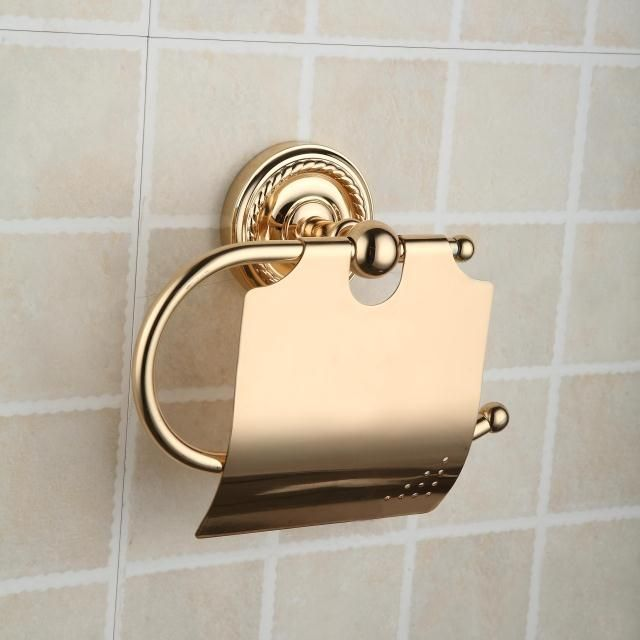 antique brass ti pvd wall mounted toilet roll holder function toilet roll holders style antique finish ti pvd color golden material brass mount wall