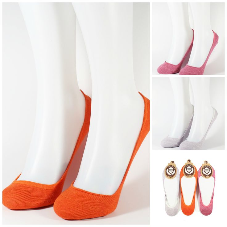 Women's Low Cut Invisible Socks Non Skid Silicone Grip 3 Color (3 Pairs)