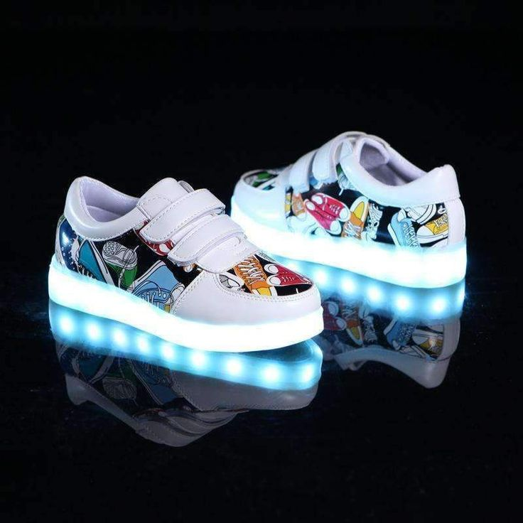 Abstract Design Sneakers with LED Lights Kids Sneakers for Boys and Girls