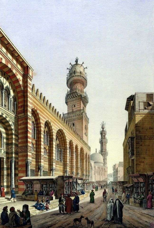 The complex of Sultan Qalawun BY Pascal Xavier Coste - French, 1787-1879