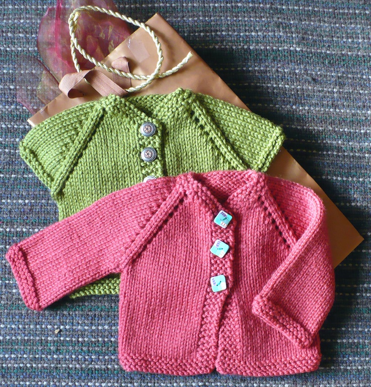 Last Minute Baby Sweater (Birth to 6 mo)