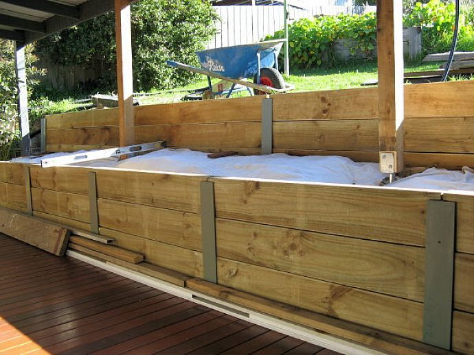 Cheapest retaining wall google search retaining wall - How to build a garden retaining wall ...