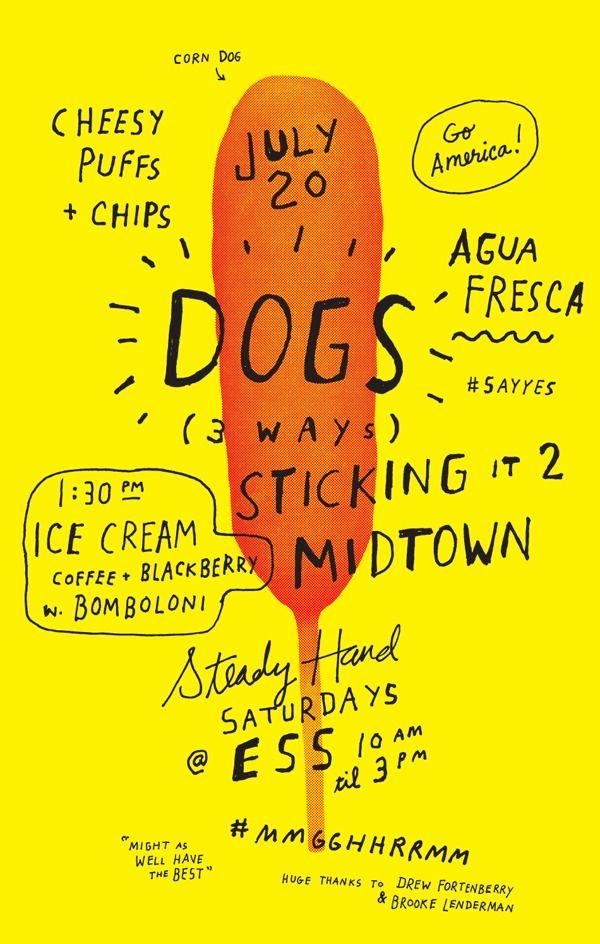 Corn Dog poster #lettering