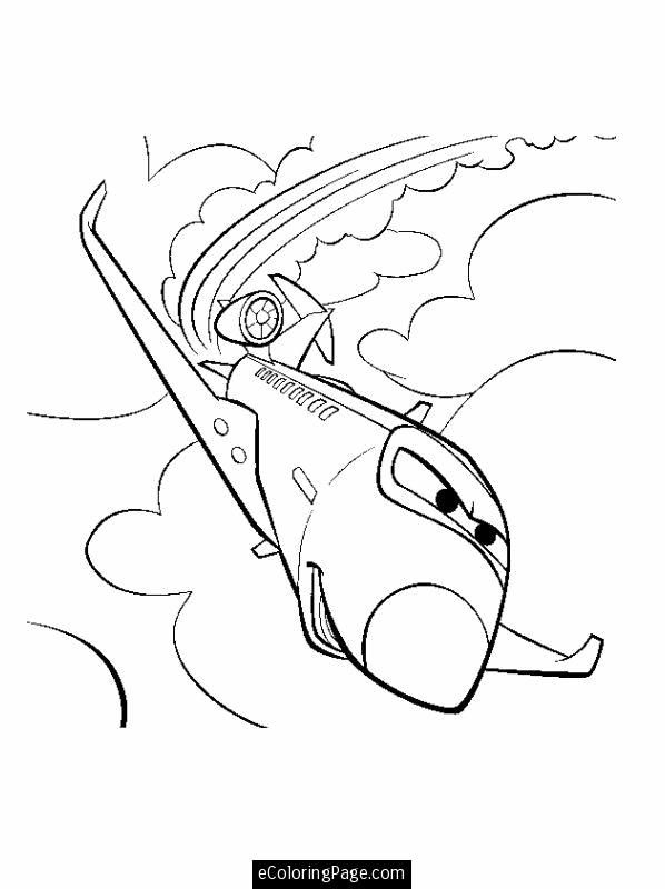cars 2 airplane printable colouring page