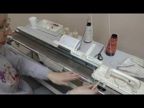 Вивинговое переплетение или футерованный, ткацкий узор на вязальной машине Silver Reed SK280/SRP60N - YouTube