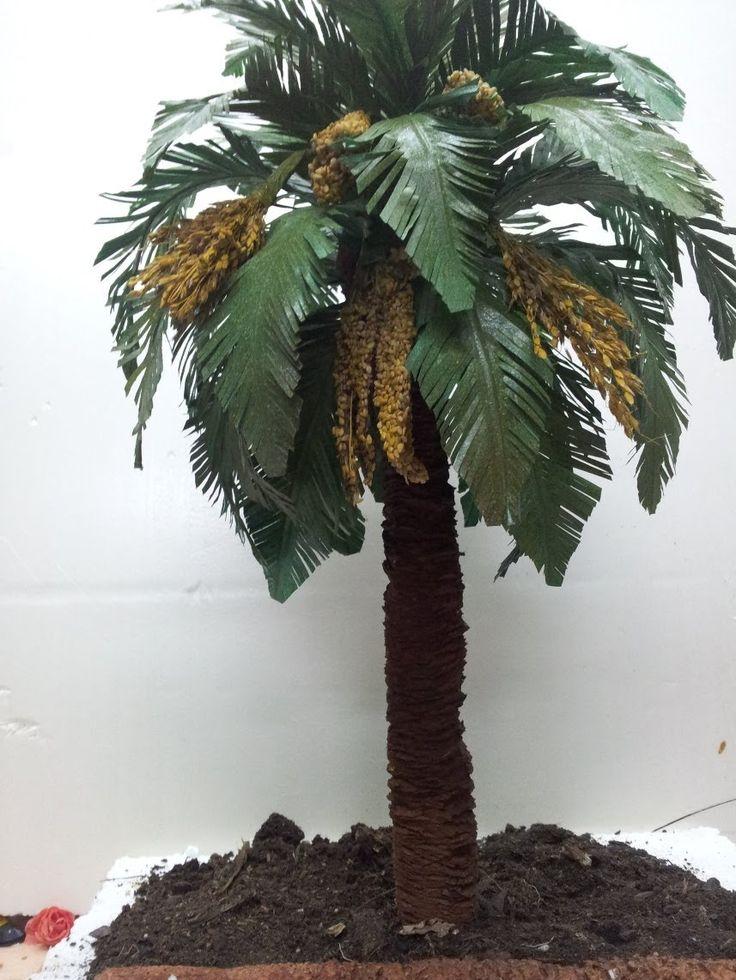 COMO HACER UNA PALMERA PRIMERA PARTE - HOW TO MAKE A PALM TREE FOR BELÉN