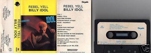 BILLY IDOL Rebel Yell 1984 SOUTH AFRICA RARE TAPE CASSETTE ALBUM MC4724 | eBay