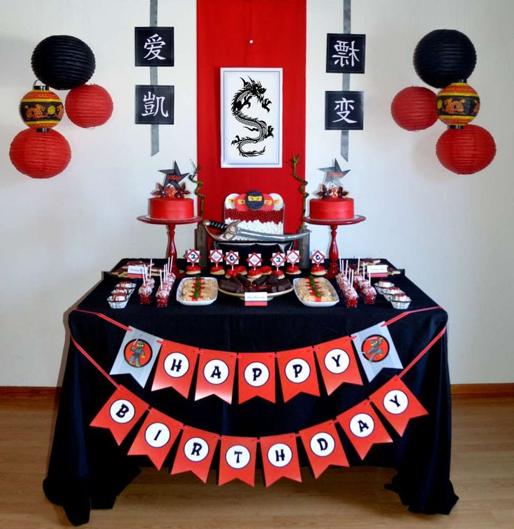 Ninja Birthday Party Ideas | Photo 1 of 11 | Catch My Party