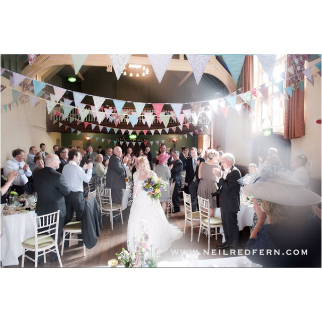 Vintage Inspired Wedding Reception At The Local Village Hall