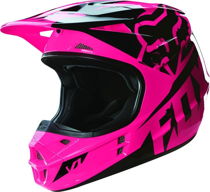 Fox Racing V1 Race Girls Dirt Bike Off Road Motocross Helmets