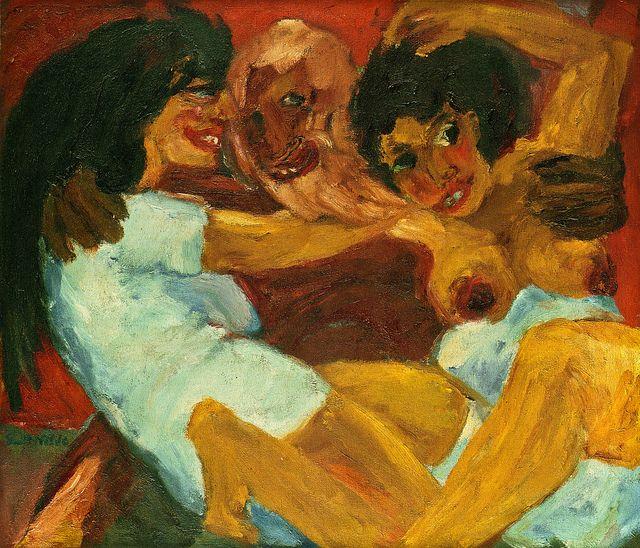 [ N ] Emil Nolde - Legend: Saint Symeon and the Women (1915)
