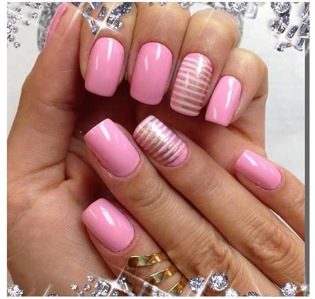 30 Best Images About Pink Gold Nails On Pinterest