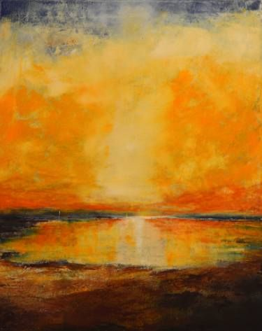 Buy Contemplation, a Oil on Canvas by Alvaro Mendoza from Spain. It portrays: Seascape, relevant to: seascape, sunset, Mediterranean, contemplation, landscape Mystical contemplation of the sunset light on the fullness of the horizont.