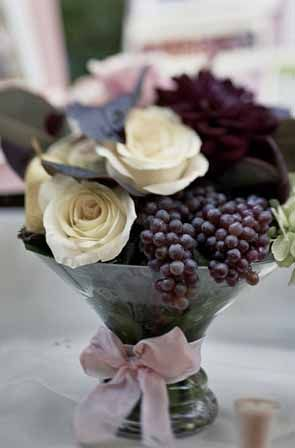 Champagne grapes should be added to the flowers. Very seasonal and perfect for Friday night!