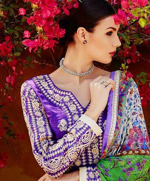 Magnetic Purple Embroidered Designer Salwar Suit. #salwarkameez #salwarsuit #designersuits