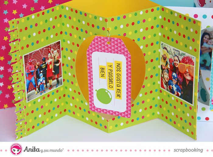 Interior Mini album en forma de estrella