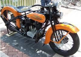 """Harley Davidson begins to incorporate graphic designs and color options. A chrome package was also offered for $15, as Harley-Davidson begins to offer factory custom parts and accessories for its motorcycles, and an art-deco """"eagle"""" design painted on all gas tanks. This decision is made to stimulate low sales during the Great Depression."""