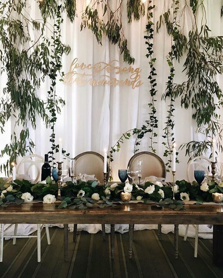 Bakersfield Country Club Wedding By House Of Flowers Bakersfield Ca Vine Covered Back Drop For