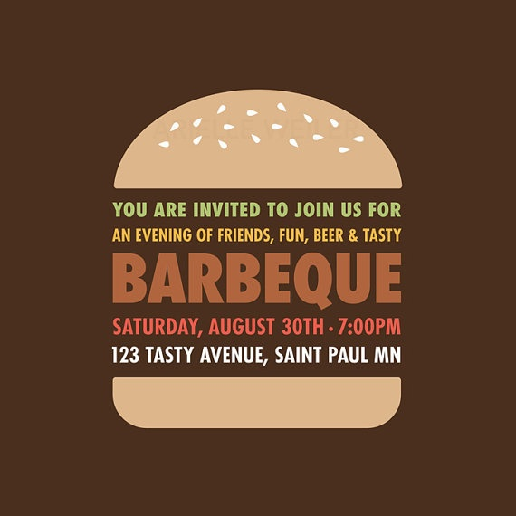Love this BBQ Invite