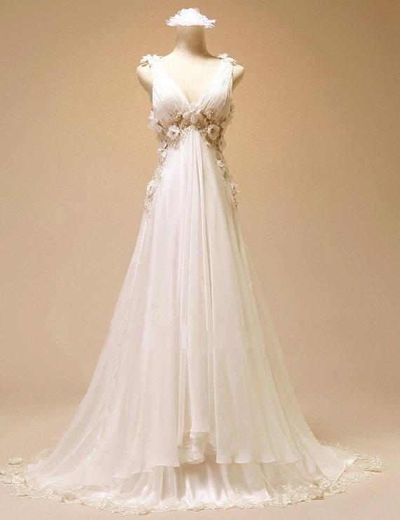 Best 25 greek style wedding dress ideas on pinterest for Toga style wedding dress