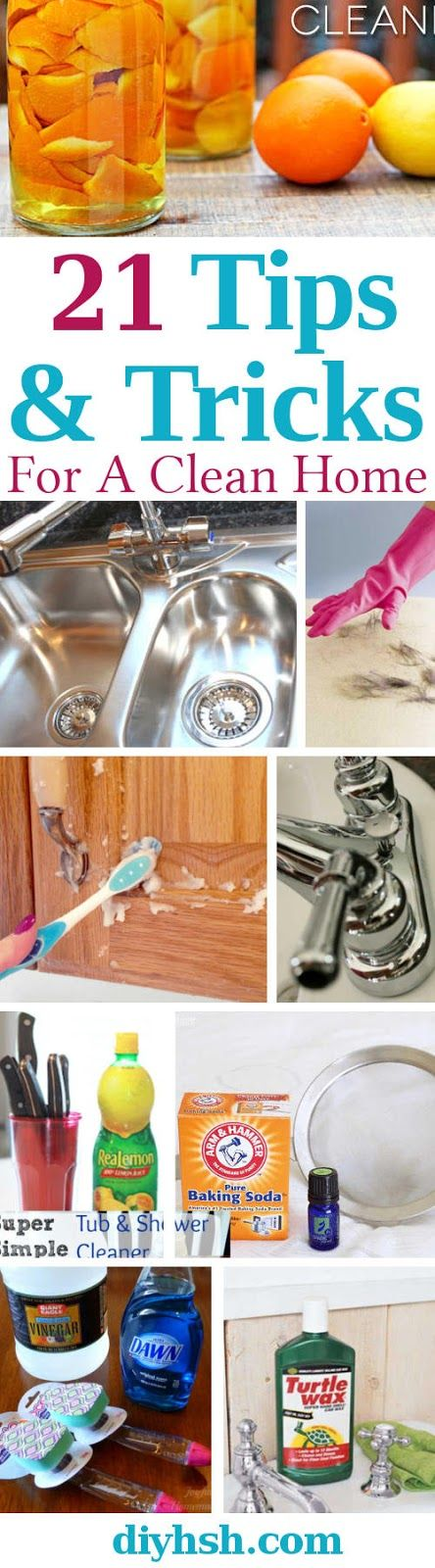 21 Spring Cleaning Tips & Tricks For A Clean Home Year Round. #CleaningHacks #CleaningTips #Cleaning #CleanHome #Organizing #Home #Family