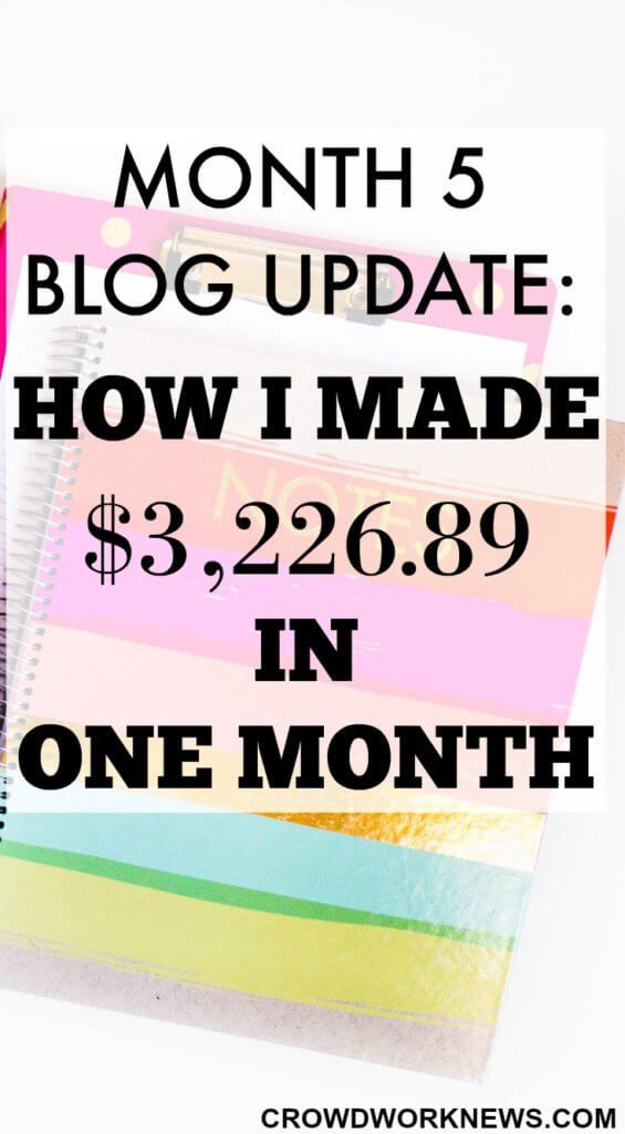 My 5th Month blog update is live!! Find out how I managed to get over 85,000 page views and earn more than $3000 in one month of blogging.