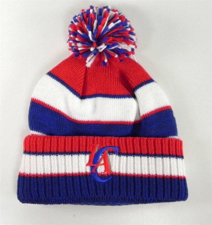 Adidas Beanie Hat Los Angeles Clippers Cuffed Knit LA Men NBA Basketball Benie #adidas #Beanie