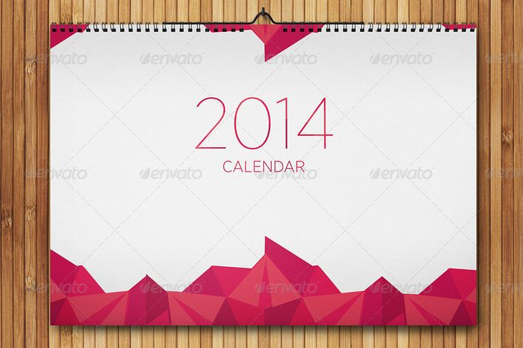 Realistic Wall Calendar Mock-up