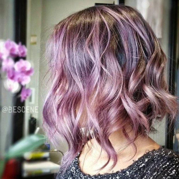 Magníficos colores pastel púrpura Peinado Ideas: Estilos Balayage Hair Designs