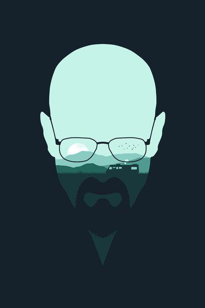 """Heisenberg"" by Filiskun ART PRINT / MINI (7"" X 10"") $18.00 ... society6.com, my love for you knows no bounds"