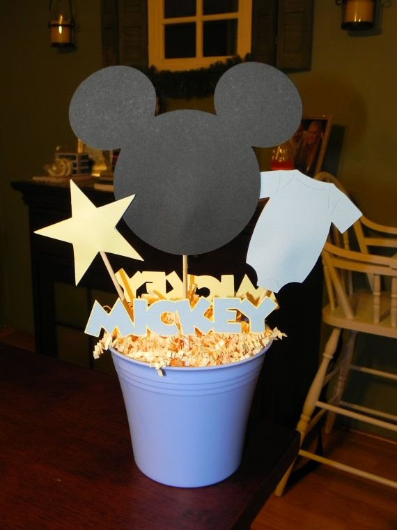 24 best images about mickey mouse baby shower fun on for Baby mickey mouse decoration