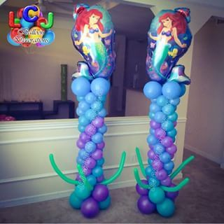 Balloon arch little mermaids and arches on pinterest for Ariel decoration