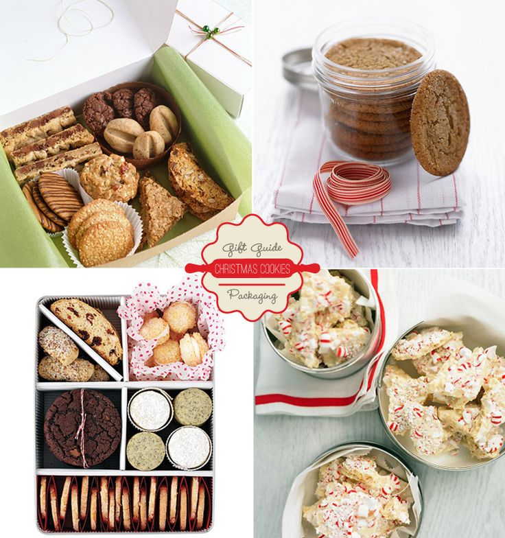 Some cute packaging ideas. LOVE the cookie sampler on the bottom left.