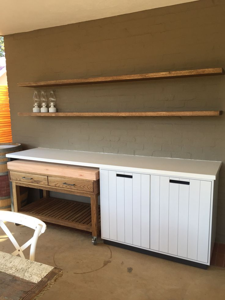 Patio with Butcher's Trolley