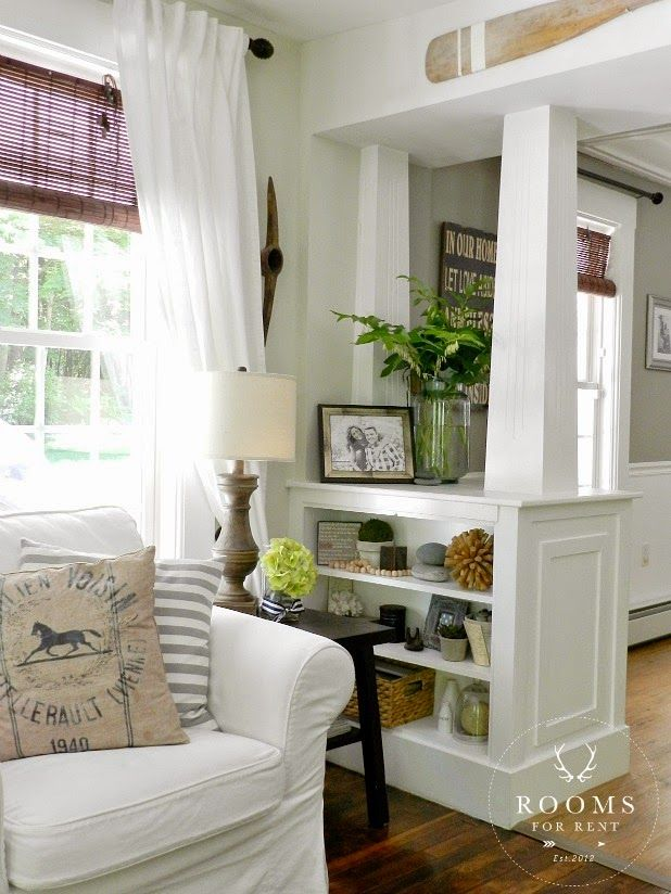 shelving instead of real where it steps down to family room