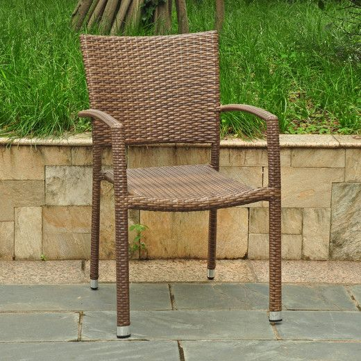Charming International Caravan Barcelona Resin Wicker/Aluminum Outdoor Stackable  Armchair   Overstock Shopping   Big Discounts On International Caravan  Dining Chairs