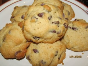Chocolate Chip cookies make with Reliv all natural sweetener. These were so soft and yummy! Could not tell that they did have sugar.